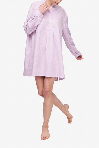 Short Sleep Shirt Textured Lilac