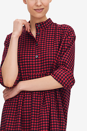 Long Sleep Shirt Red Buffalo Check