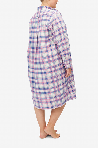 Long Sleep Shirt Pink Carnaby Plaid PLUS