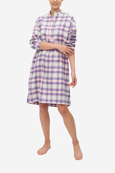 Long Sleep Shirt Pink Carnaby Plaid