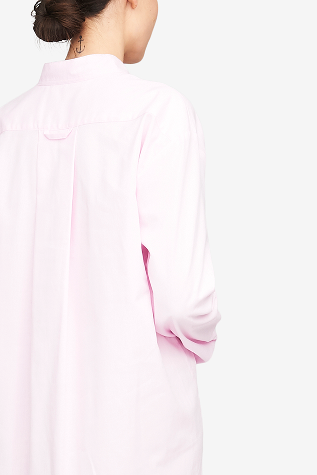 Long Sleep Shirt Pink Royal Oxford