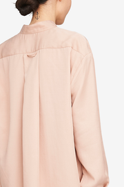 Long Sleep Shirt Blush Tencel Twill