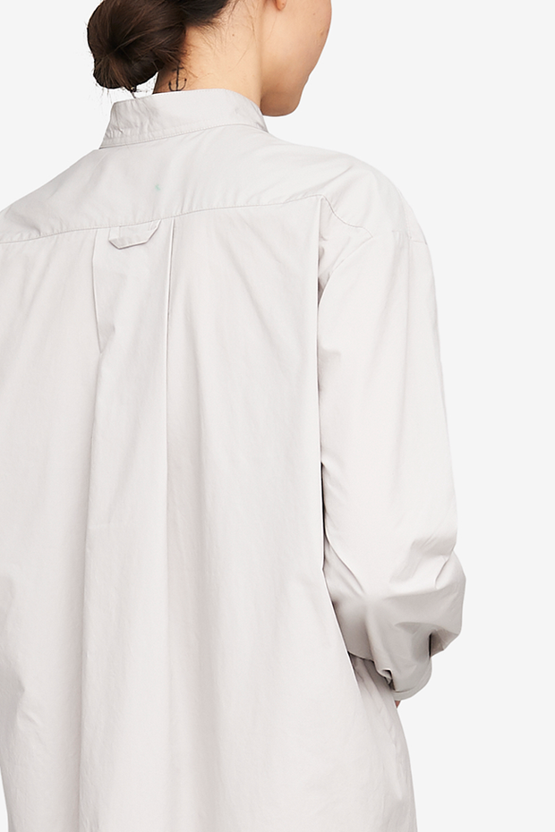Long Sleep Shirt Fog Washed Poplin