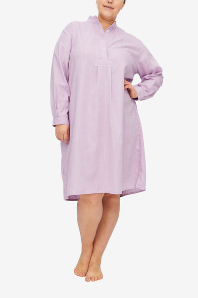 Long Sleep Shirt Textured Lilac PLUS