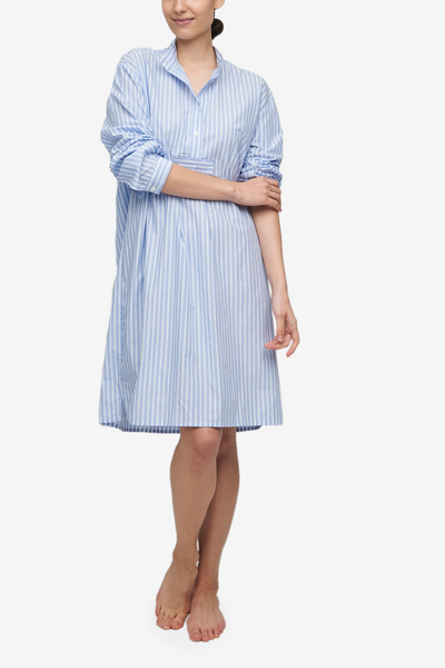 Long Sleep Shirt Tricolour Stripe