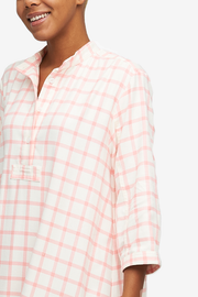 Full Length Sleep Shirt Pink Check Flannel