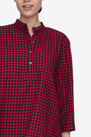 Full Length Sleep Shirt Red Buffalo Check