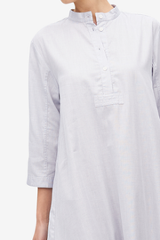 Full Length Sleep Shirt Grey Point Cotton
