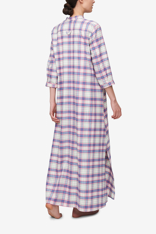 Full Length Sleep Shirt Pink Carnaby Plaid