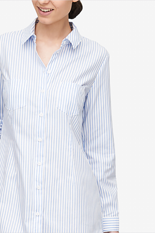 Slim Sleep Shirt Sunday Uniform Stripe