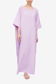 front view oversized kaftan pink linen cotton blend by The Sleep Shirt