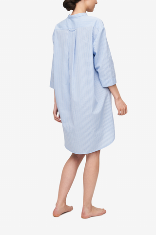 Slip On Sleep Shirt Cook's Blue Stripe