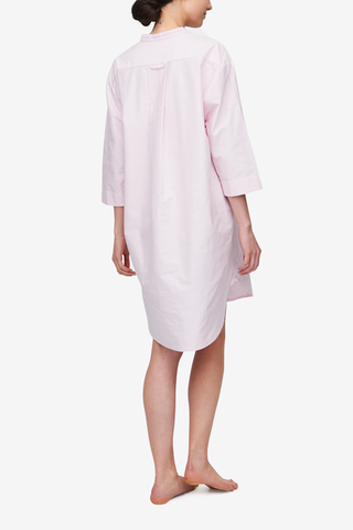 Slip On Sleep Shirt Pink Oxford Stripe