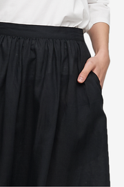 House Skirt Black Linen