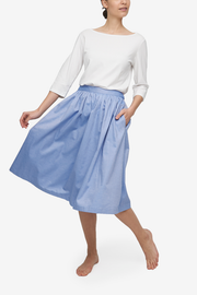 House Skirt Blue Classic Oxford