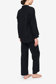 Set - Long Sleeve Shirt and Lounge Pant Black Flannel