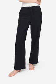 Lounge Pant Black Flannel