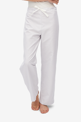 Lounge Pant Dove Grey Stripe