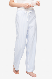 front view lounge pant sunday uniform stripe cotton by the Sleep Shirt