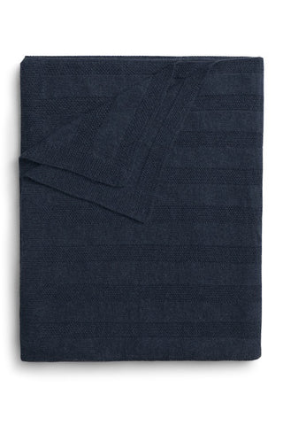 folded indigo navy blue alpaca blanket handmade in Peru by the Sleep Shirt