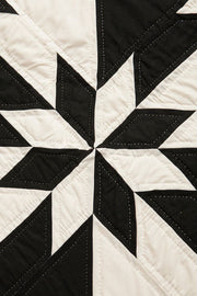 Amish Patchwork Duotone Throw Quilt Black/Unbleached