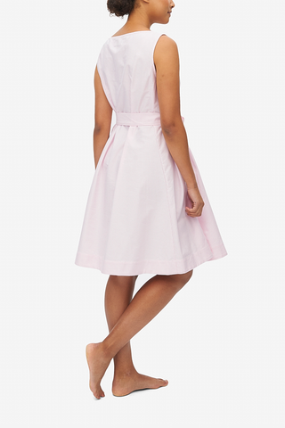 Belted Dress Pink Oxford Stripe