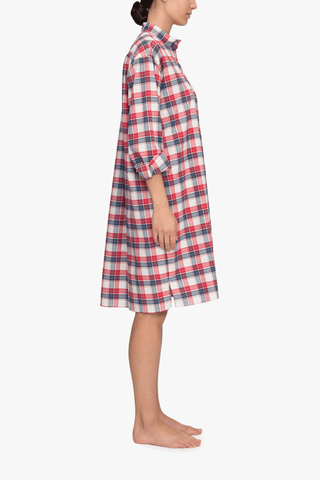 Long Sleep Shirt Berry Plaid