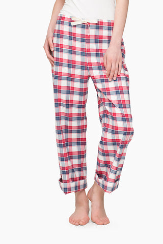 Lounge Pant Berry Plaid
