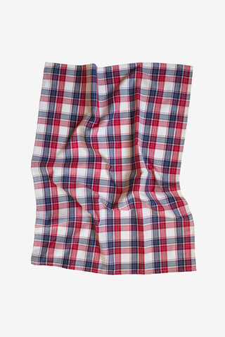 Berry Plaid Tea Towel - Set of 2
