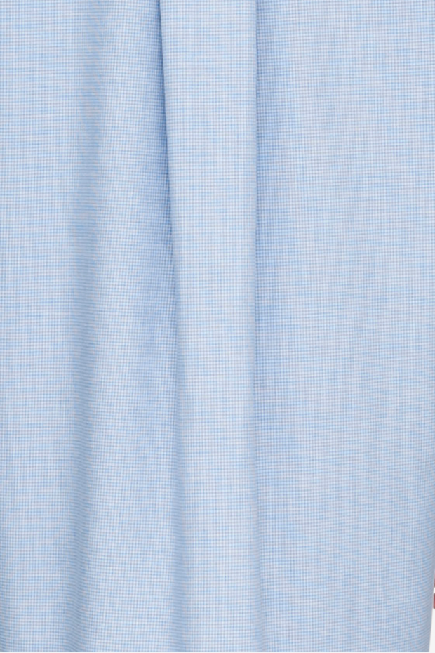 Short Sleep Shirt Blue Check Light Cashmarello