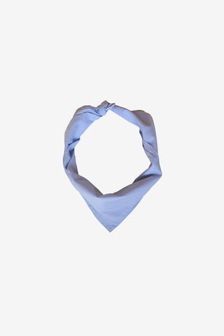 Blue Mini Check Kerchief