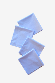 Large Blue Mini Check Napkins - Set of 4