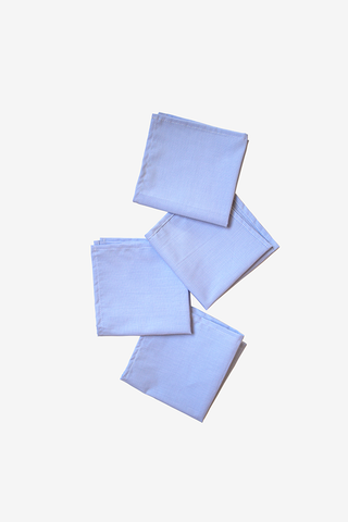 Small Blue Mini Check Napkins - Set of 4