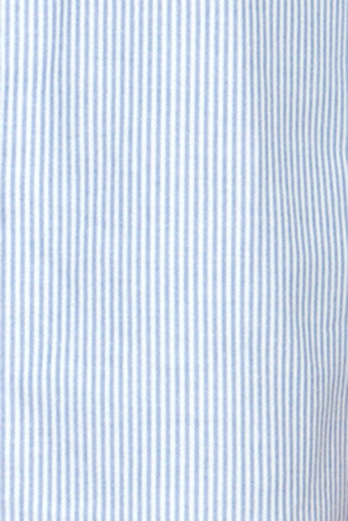 cotton blue oxford stripe fabric by the Sleep Shirt