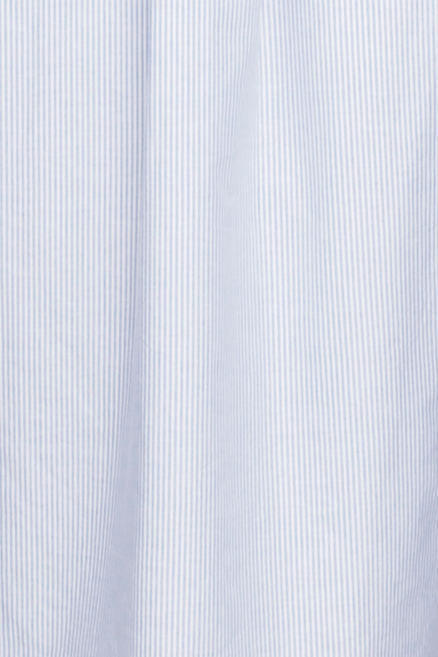Cuffed Sleeve Shirt Blue Oxford Stripe