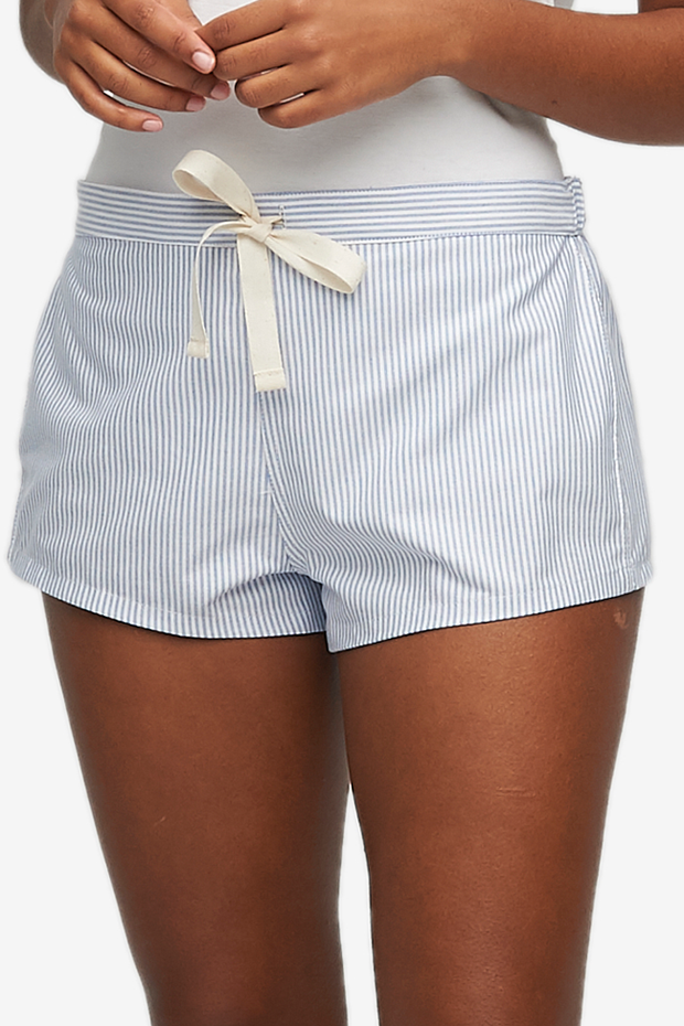 Set - Classic Camisole & Classic Short Blue Oxford Stripe