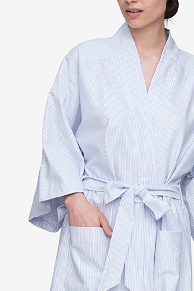 Robe Blue Oxford Stripe