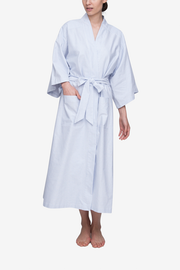 Front view of full length cotton robe with belt by The Sleep Shirt