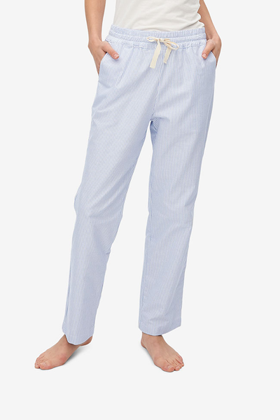 Slash Pocket Pant Blue Oxford Stripe