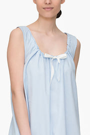 Sleeveless Nightie Blue Royal Oxford