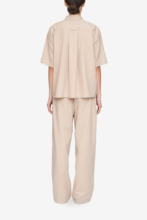 back view lounge pant camel twill cotton by the Sleep Shirt