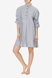 Short Sleep Shirt Charcoal Chambray