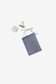 Charcoal Chambray Pouches - Set of 4