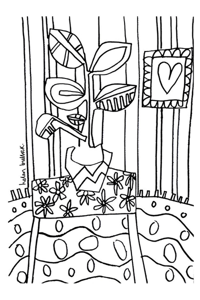 Helen Bullock Colouring Page Download - Room