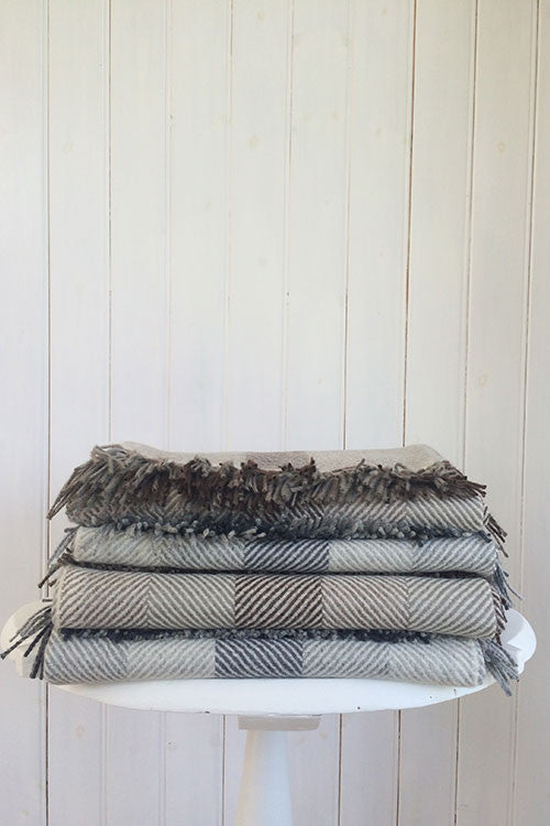 Woven Alpaca Throw in Smoke