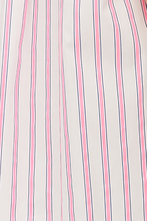 Two Pocket Sleep Shirt Fluo Pink Stripe