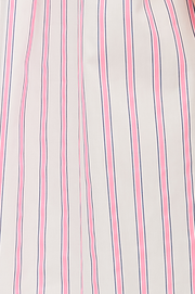 Short Sleep Shirt Fluo Pink Stripe PLUS