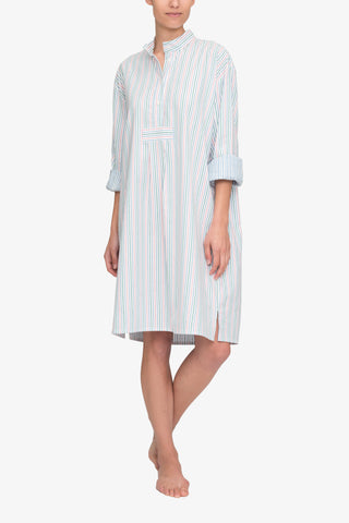 Long Sleep Shirt Garden Stripe
