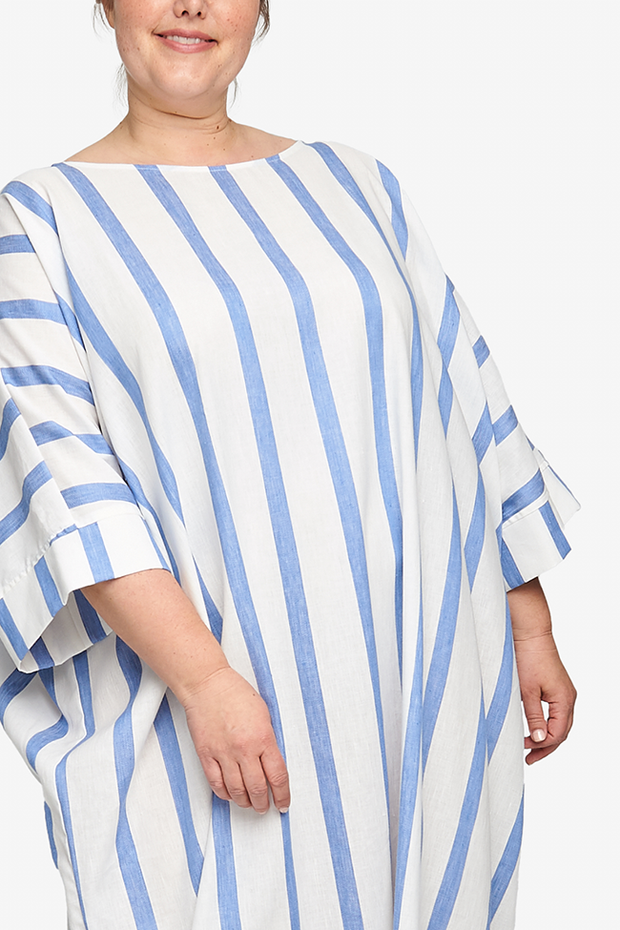 Oversized Kaftan Giant Blue Stripe PLUS