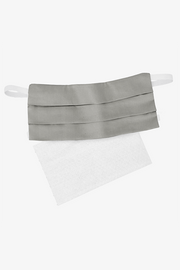 St. Genève Antimicrobial Silver-infused Cotton Re-Usable Mask - Grey